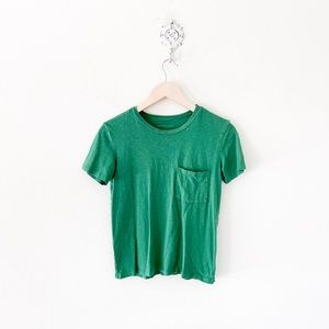 american eagle green pocket tee